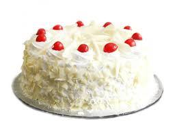 eggless white forest cake