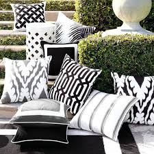 Grey Outdoor Pillows Grey And White Striped Outdoor Cushions