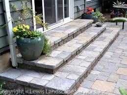 paver steps landings raised paver patios