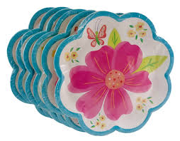 Pink Flower Paper Plates Cheap Flower Paper Plates Find Flower Paper Plates Deals On Line At