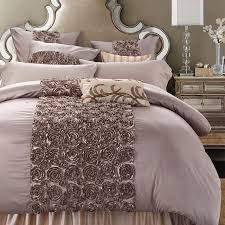 rose shaped luxury duvet cover 6pcs bedding set king queen size