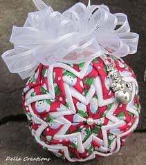 1102 best Christmas DIY Quilted Ornaments images on Pinterest | At ... & Quilted Ornament w/Charm - 3