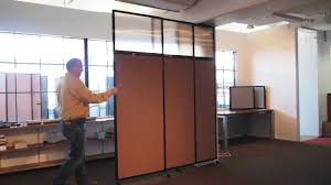 Sliding Wall Dividers The Tall Wall Sliding Wall Mounted Room Divider By Versare Youtube