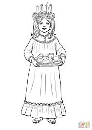 Find Christmas In Sweden Coloring Sheets Ausmalbild Sankt Lucia