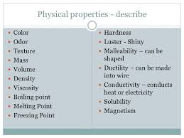 malleability chemistry. 3 physical properties malleability chemistry