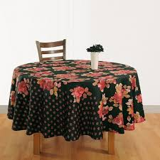 red black round table linen 1938 view larger