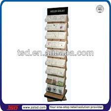 Wooden Greeting Card Display Stand TSDW100 Custom high quality floor wooden rotating greeting card 31