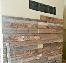 refurbished wood walls pallet wood is the perfect substitution for reclaimed barn wood this diy rustic refurbished wood walls
