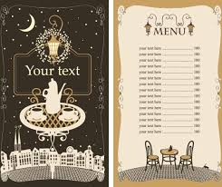 Set Of Cafe And Restaurant Menu Cover Template Vector Free