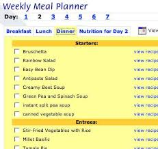 one week menu planner vegetarian meal planning toronto vegetarian association