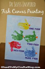 Dr Seuss Inspired Fish Canvas Painting {Kid Craft