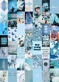 Blue Aesthetic Collage Kit ...