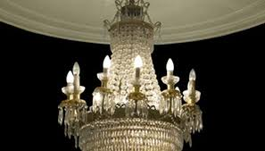 old crystal chandelier