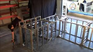 image of build outdoor kitchen frame in under 5 minutes amazing you inside metal stud