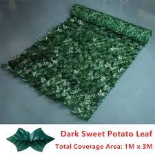 artificial fake ivy leaf hedge privacy