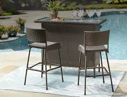 Outdoor Bar Furniture The Home Depot Pertaining To Patio Bar Sets