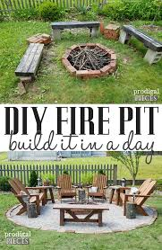 make your outdoor space inviting safe and cozy with this diy fire pit tutorial