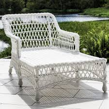 everglades white resin wicker patio chaise lounge by lakeview