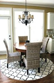carpet under dining table area rug for dining room round dining room rugs what size round