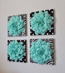 wall decor set of four mint dahlias on black and white prints 12 canvases wall art  on seafoam green canvas wall art with mint green wall art lilac and mint moroccan art art set of four