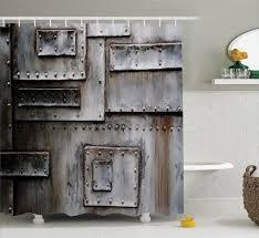 ... Home Decor, Charming Industrial Home Decor Industrial Home Decor Ideas  Metal Sheet Shower Curtain Industrial ...