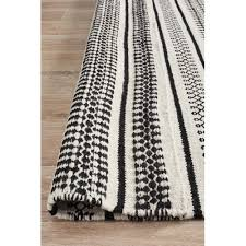 network rugs melodee black white hand woven flatweave wool rug