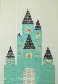 Whimsical quilts | Whimsical, Patterns and Block quilt & Blossom Heart Quilts' fairy-tale castle pattern Adamdwight.com