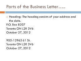 how to address a letter with a po box the business letter ppt video online download