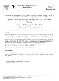 PDF) Thermal Process of Windows in Hot Summer and Cold Winter Climate