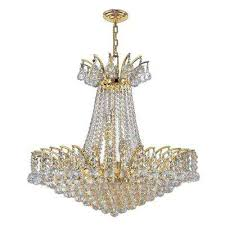 empire collection 11 light polished gold and clear crystal chandelier