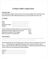 Used Car Sell Contract - Kleo.beachfix.co
