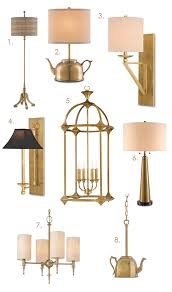 brass currey and company lighting