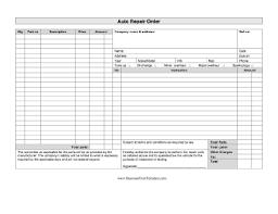 auto repair forms auto repair order template