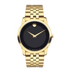 men s movado gold tone watch black museum® dial model mouse over image to zoom view larger image men s movado gold tone watch