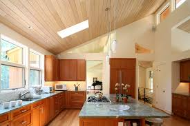 lighting for vaulted ceilings. Vaulted Ceiling Lighting Kitchen Modern With Breakfast Bar Clerestory Windows For Ceilings G