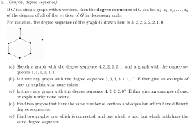 Solved 2 Graphs Degree Sequence If G Is A Simple Grap