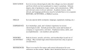 Sample Resume For Internships Internship Resume Template