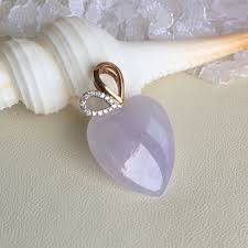 a grade type a natural lavender jadeite jade heart pendant no 170466 women s fashion jewellery others on carou
