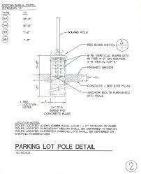 Concrete Light Pole Base Design Vestar Tenant Services