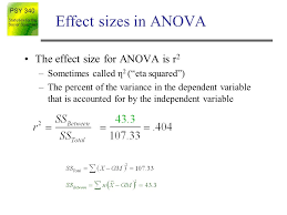 effect size anova analysis of variance anova statistics for the social sciences