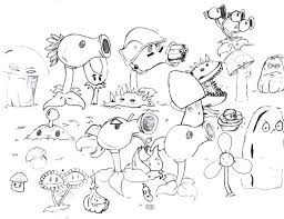 Coloring Pages Disney Channel Plants Vs Zombies Games For Kids