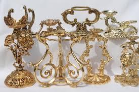 Egg Display Stands Vintage Egg Stands Lot Ornate Gold Tone Metal Display Holders For 11