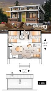 Construction Of Home Design Affordable Small 2 Bedroom Cabin Plan Wood Stove Open