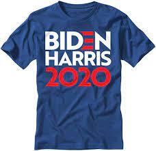 Amazon.com: electricitees Biden Harris 2020 Royal Blue Short Sleeve T Shirt  (Small): Clothing