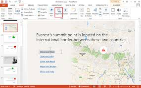 adding hyperlinks to text in powerpoint