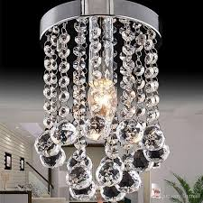 15 20 25cm crystal chandelier light mini ceiling lamp fixture small clear crystal re lamp for aisle stair hallway corridor porch light small chandelier