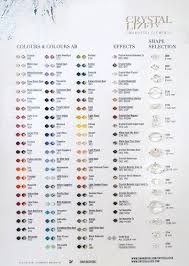 Official Swarovski Crystal Bead Color And Shape Chart With