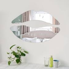 Großhandel Moderner Morgen Der Lippen Küsst Wandspiegel Aufkleber