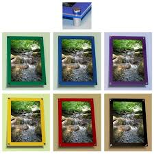 wall mounted photo poster coloured acrylic frame displays