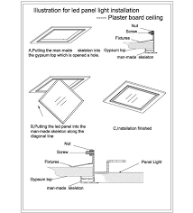 led panel light ceiling mounted installation instructions